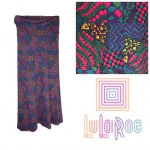 LuLaRoe Whimsical Print Maxi Skirt